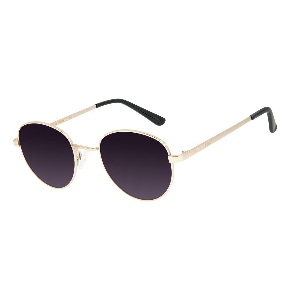 Óculos de Sol Unissex Chilli Beans Essential Redondo Dourado OC.MT.2517-0521