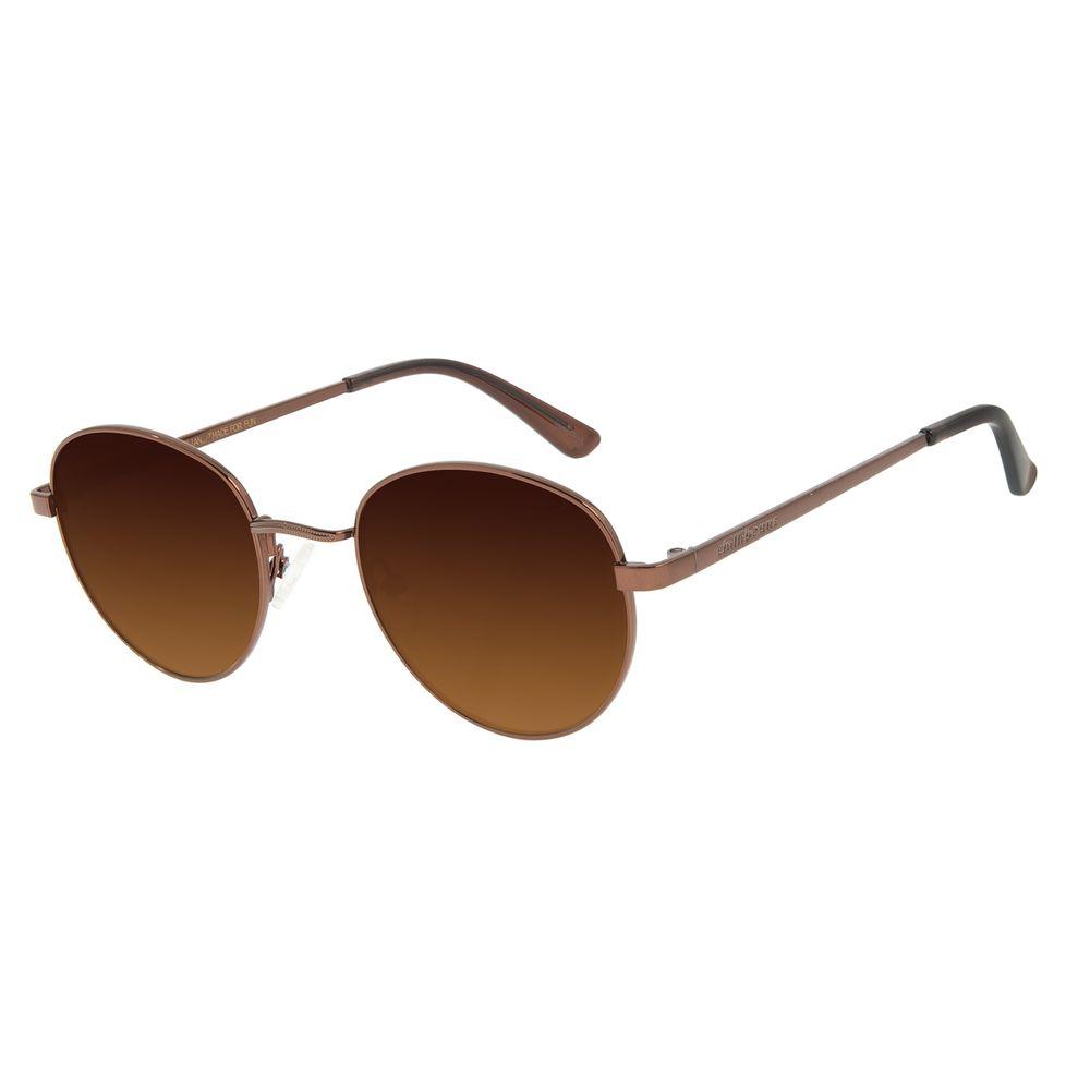 Óculos de Sol Unissex Chilli Beans Essential Redondo Marrom OC.MT.2517-5702