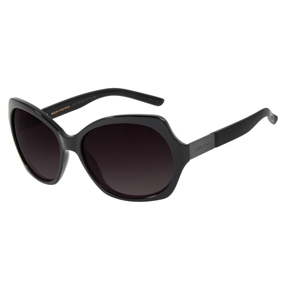 Óculos de Sol Feminino Chilli Beans Essential Quadrado Oversized Polarizado Preto OC.CL.3262-2001