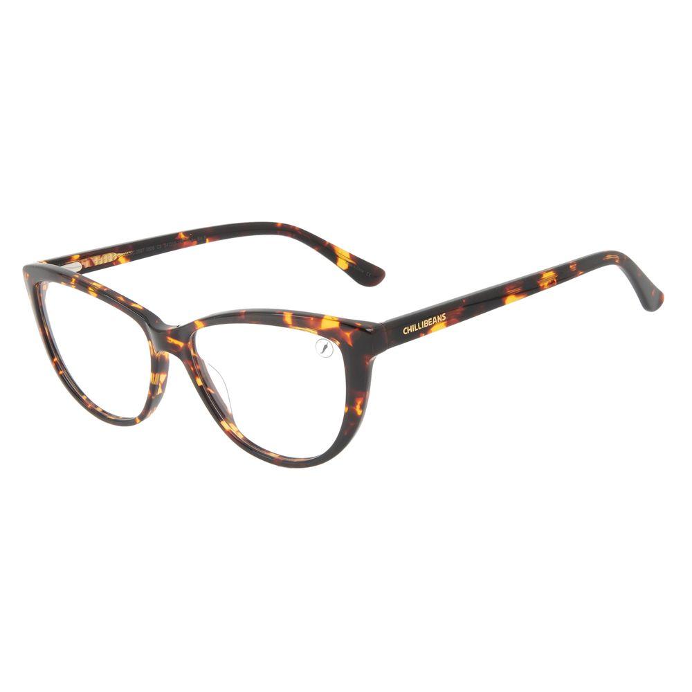 Armação Para Óculos de Grau Feminino Chilli Beans Cat Brilho Tartaruga LV.AC.0697-0606