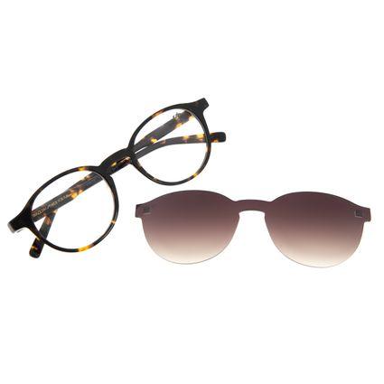 Armação Para Óculos de Grau Feminino Chilli Beans Casual Multi Degradê Marrom LV.MU.0549-5706