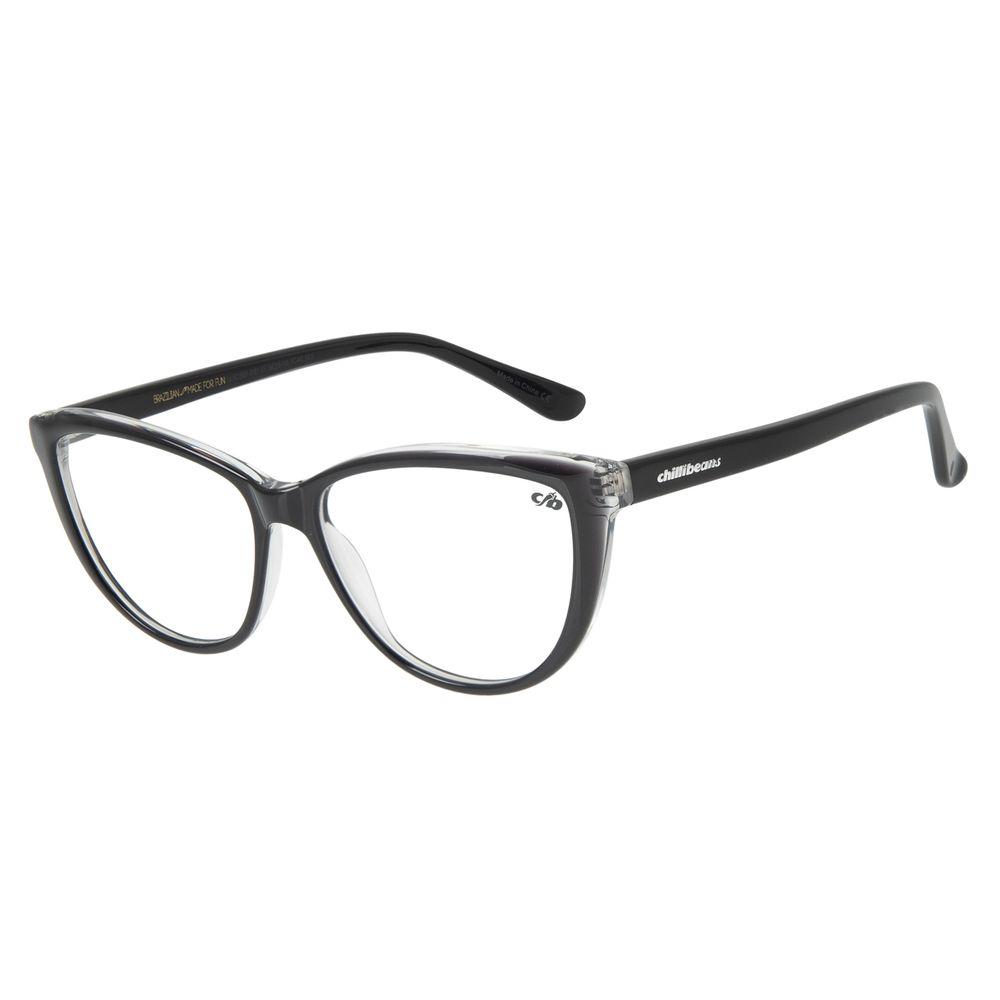 Armação Para Óculos de Grau Feminino Chilli Beans Cat Brilho Preto LV.AC.0697-0101