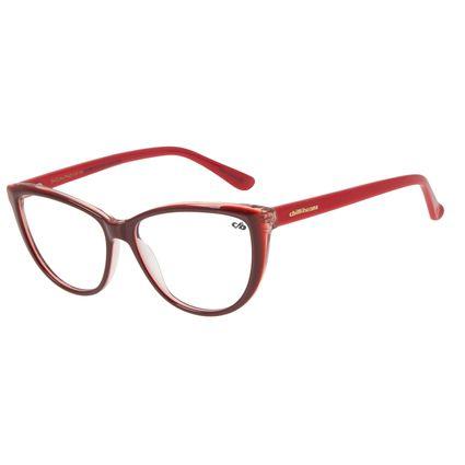 Armação Para Óculos de Grau Feminino Chilli Beans Cat Brilho Vermelho LV.AC.0697-1616