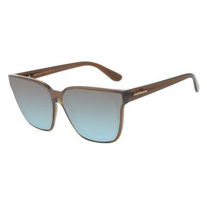 Óculos de Sol Feminino Chilli Beans Quadrado Cristal Marrom OC.CL.3242-2002