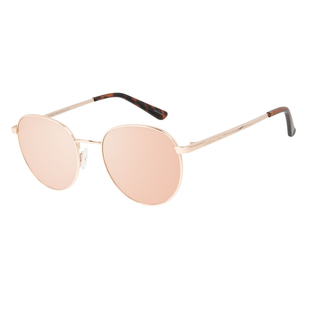 Óculos de Sol Unissex Chilli Beans Casual Redondo Rosé OC.MT.3082-5795