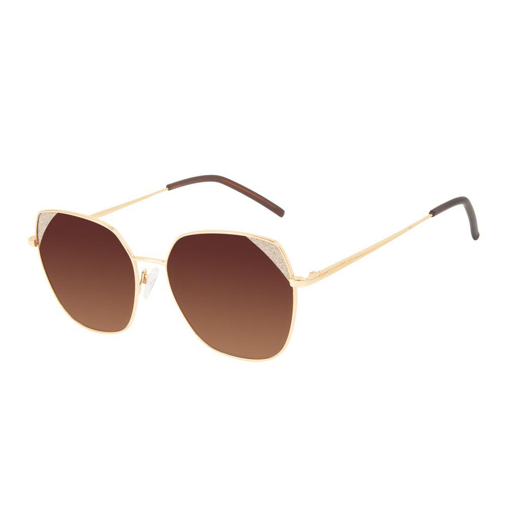 Óculos de Sol Feminino Chilli Beans Quadrado Brilho Dourado OC.MT.3130-5721