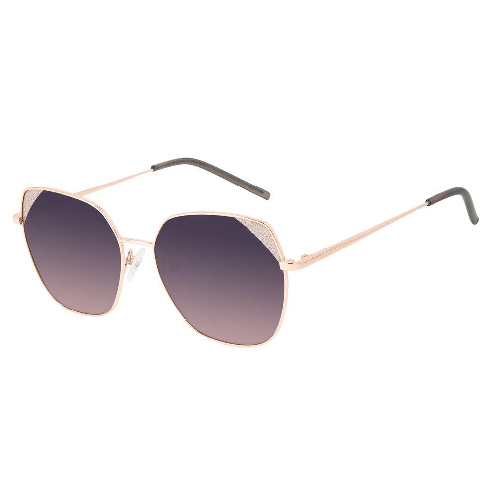 Óculos de Sol Feminino Chilli Beans Quadrado Brilho Rosé OC.MT.3130-2095