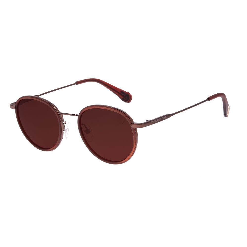 Óculos de Sol Unissex Disney Mickey Mouse Redondo Marrom OC.CL.3312-0202