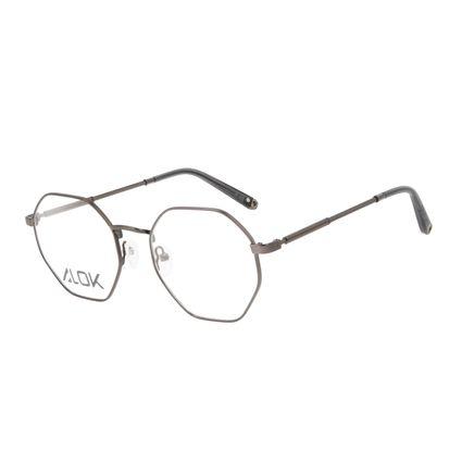 Armação Para Óculos de Grau Unissex Alok Tech In Style Octogonal Ônix LV.MT.0496-2222