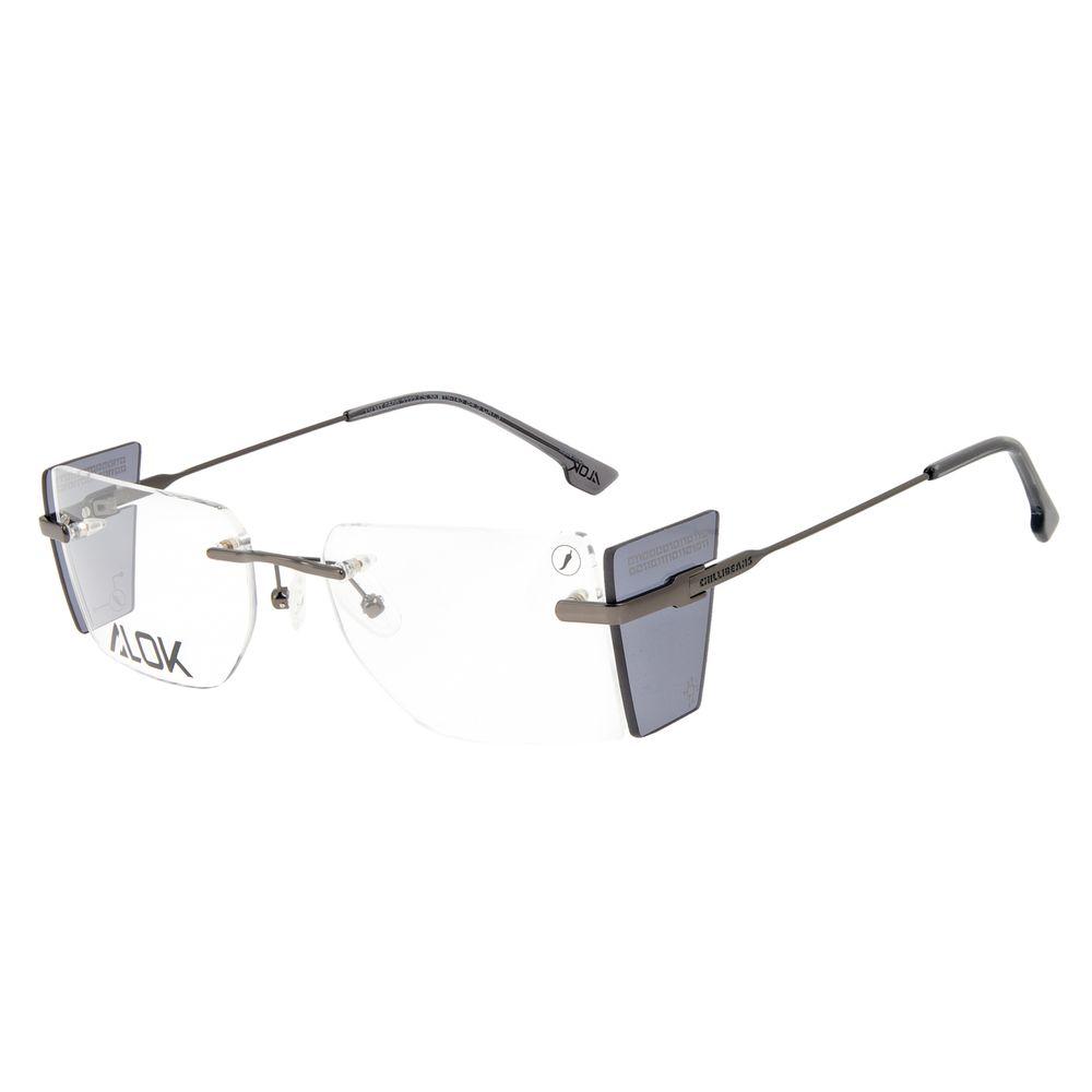 Armação Para Óculos de Grau Unissex Alok Tech In Style 3 Peças Flap Ônix LV.MT.0500-2222