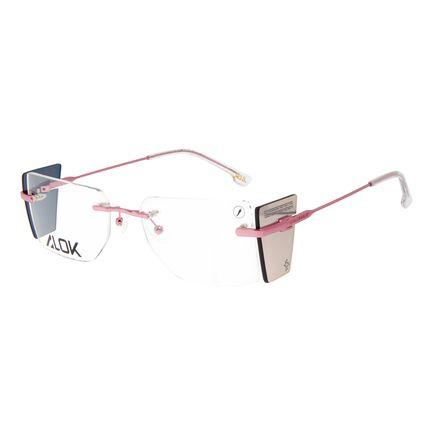 Armação Para Óculos de Grau Unissex Alok Tech In Style 3 Peças Flap Rosé LV.MT.0500-9595