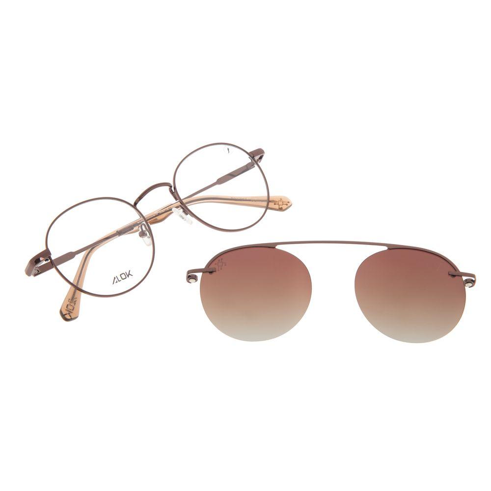 Armação Para Óculos de Grau Unissex Alok Tech In Style Multi Marrom Polarizado LV.MU.0533-5702