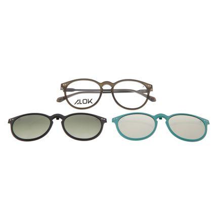 Armação Para Óculos de Grau Unissex Alok Tech In Style Multi 3D Preto Polarizado LV.MU.0536-8201