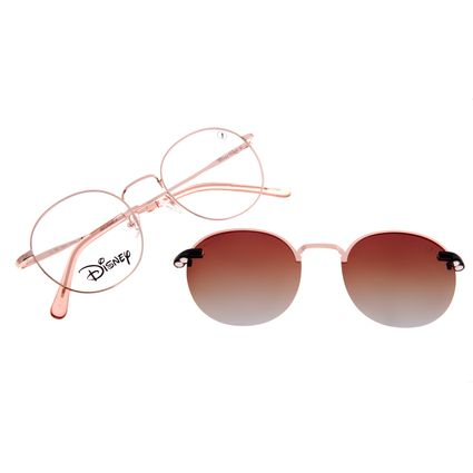 Armação Para Óculos de Grau Unissex Disney Mickey Mouse Multi Rosé Polarizado LV.MU.0541-5795