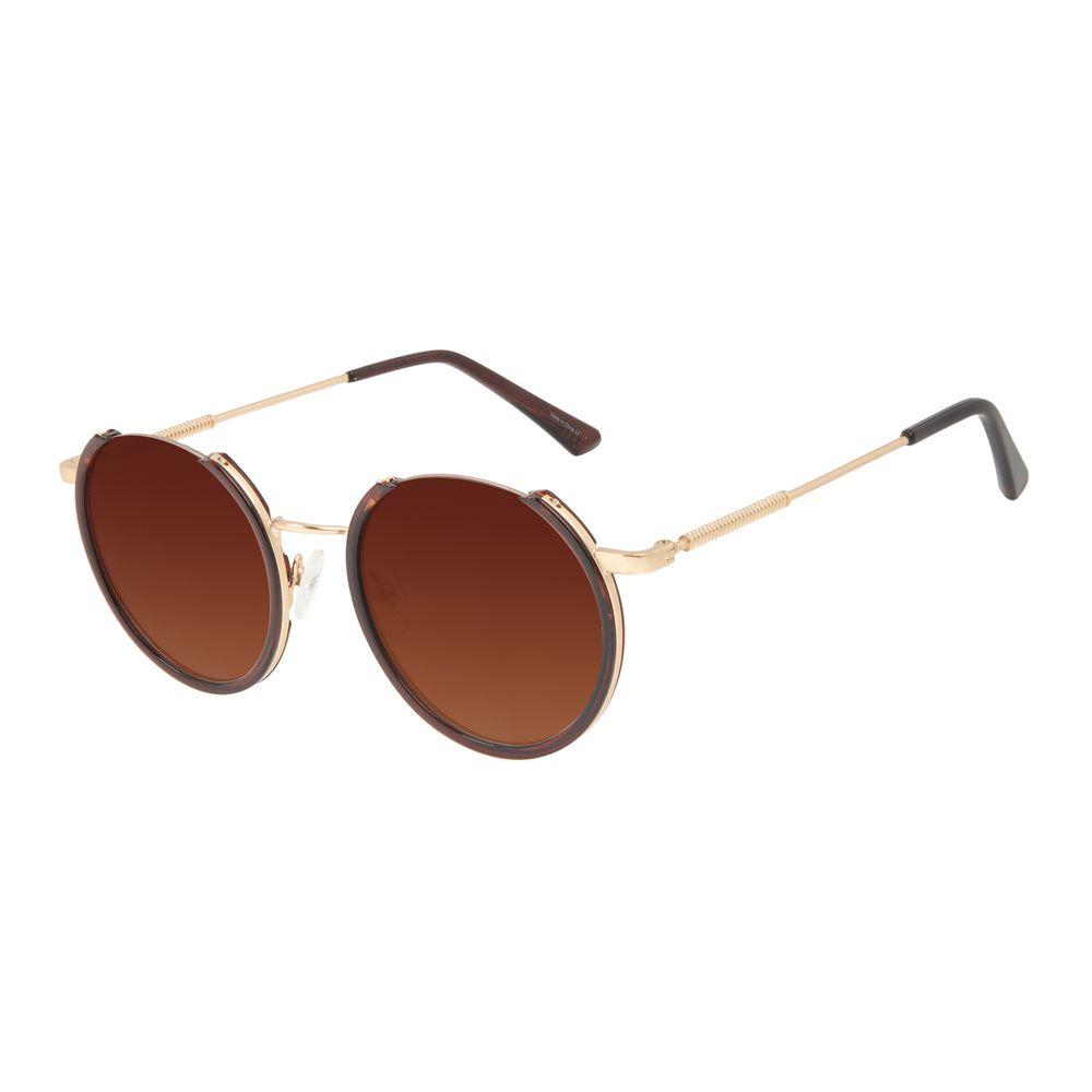 Óculos de Sol Feminino Alok Tech In Style Redondo Frame Dourado OC.CL.3297-1121