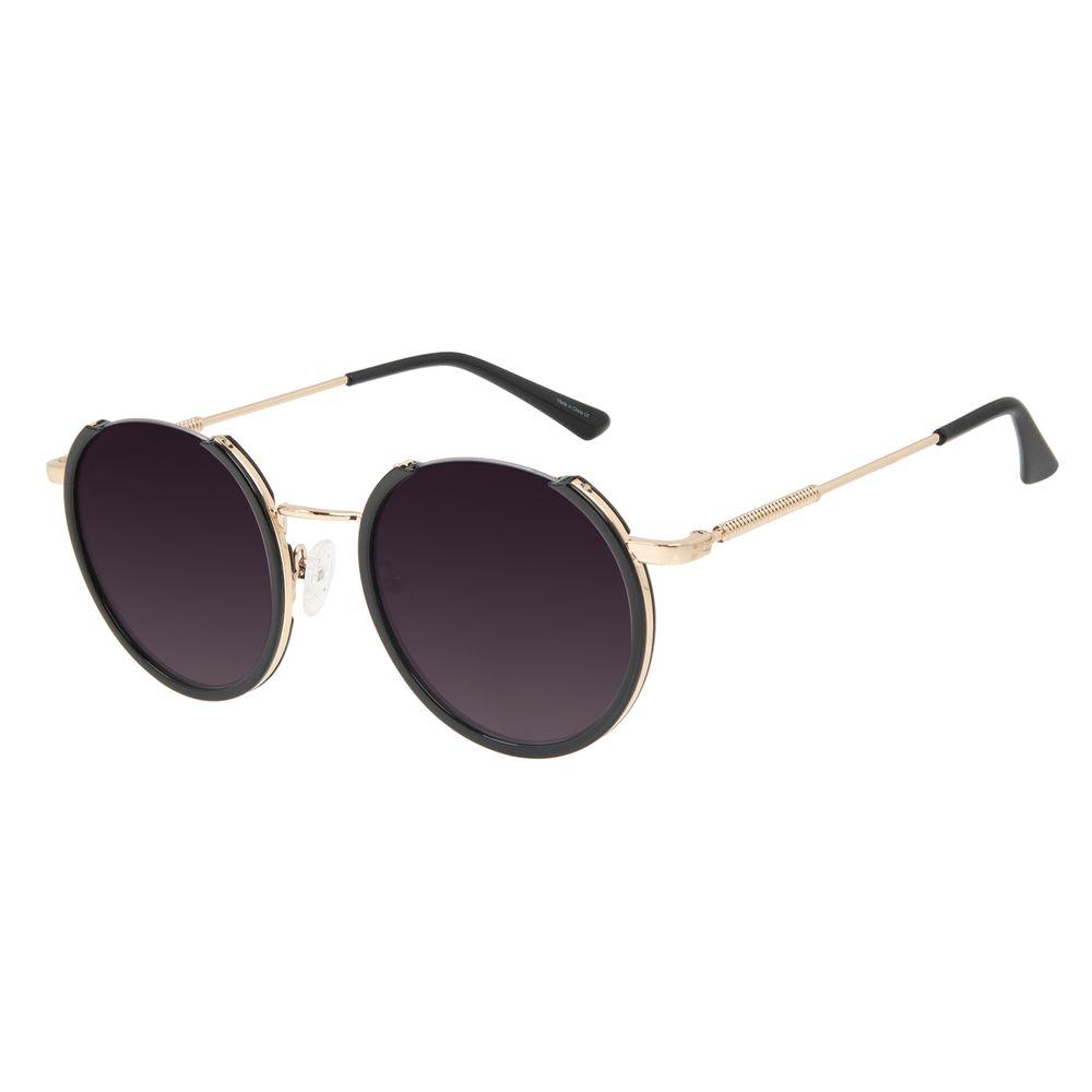 Óculos de Sol Feminino Alok Tech In Style Redondo Frame Degradê OC.CL.3297-2021