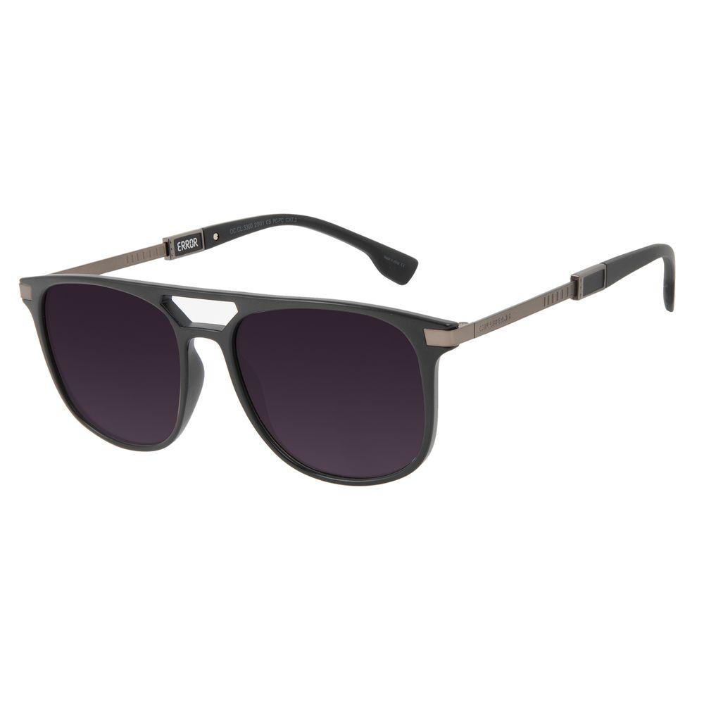 Óculos de Sol Masculino Alok Tech in Style Bossa Nova Fosco Preto OC.CL.3300-2001