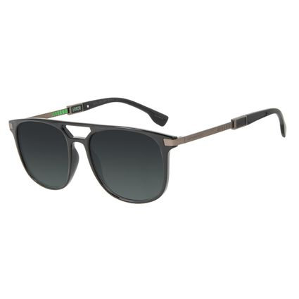 Óculos de Sol Masculino Alok Tech in Style Bossa Nova Fosco Degradê Verde OC.CL.3300-8201