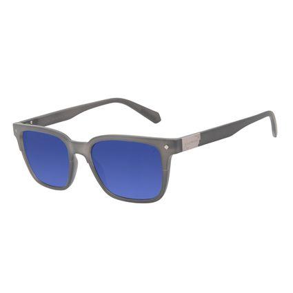 Óculos de Sol Masculino Alok Tech in Style Bossa Nova Placa Metal Cinza OC.CL.3301-1404