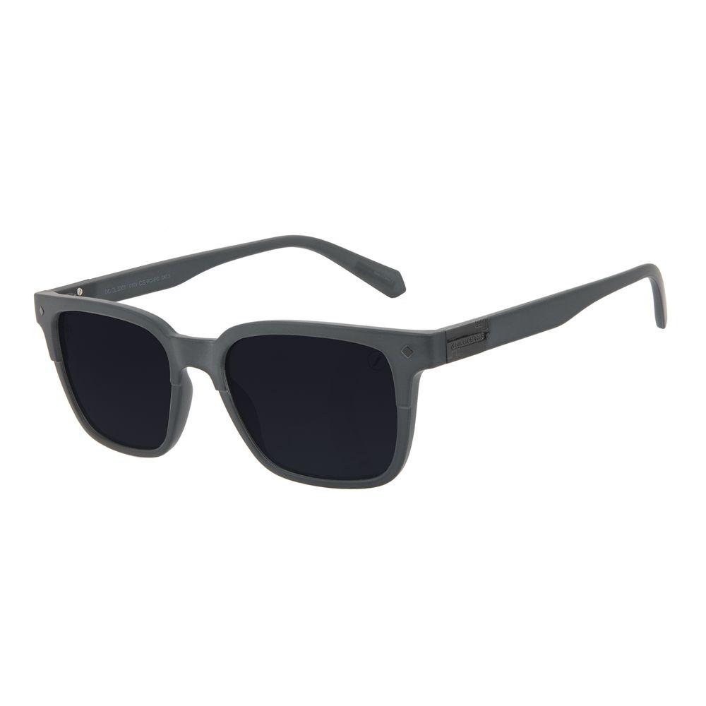 Óculos de Sol Masculino Alok Tech in Style Bossa Nova Placa Metal Preto OC.CL.3301-0101