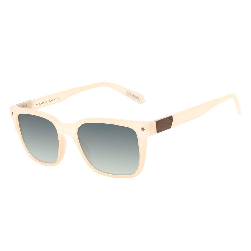 Óculos de Sol Masculino Alok Tech in Style Bossa Nova Placa Metal Degradê Verde OC.CL.3301-8202