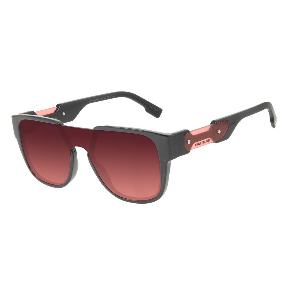 Óculos de Sol Masculino Alok Tech in Style Quadrado Degradê OC.CL.3303-2001