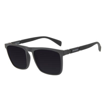 Óculos de Sol Masculino Alok Tech in Style Quadrado Polígonos Preto OC.CL.3325-0101