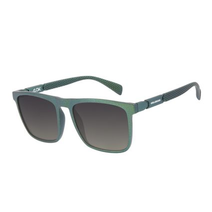 Óculos de Sol Masculino Alok Tech in Style Quadrado Polígonos Verde OC.CL.3325-8215