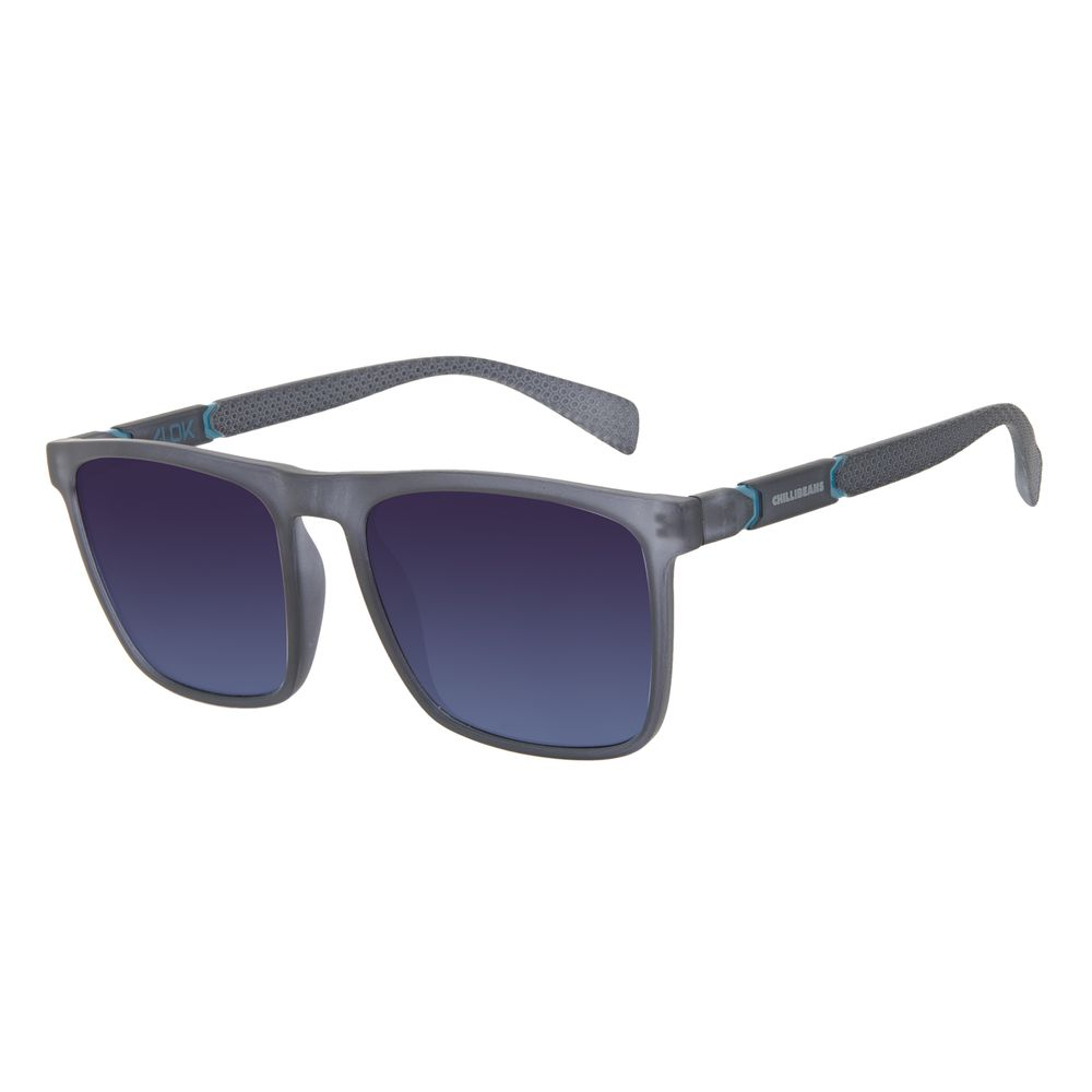 Óculos de Sol Masculino Alok Tech in Style Quadrado Polígonos Azul OC.CL.3325-8308