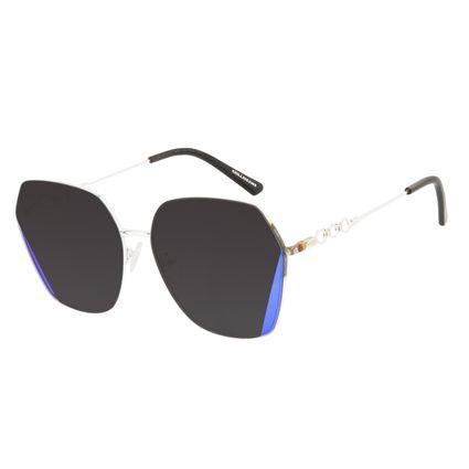 Óculos de Sol Feminino Alok Tech in Style Quadrado Prata Banhado a Ouro OC.MT.3107-2007