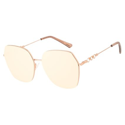 Óculos de Sol Feminino Alok Tech in Style Quadrado Rosé Banhado a Ouro OC.MT.3107-2395