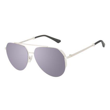 Óculos de Sol Unissex Alok Tech In Style Aviador Prata Banhado a Ouro OC.MT.3108-3207