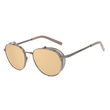 Óculos de Sol Unissex Alok Tech In Style Redondo Ônix OC.MT.3109-2122