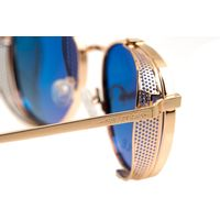 Óculos de Sol Unissex Alok Tech In Style Redondo Degradê Marrom OC.MT.3109-5721.7
