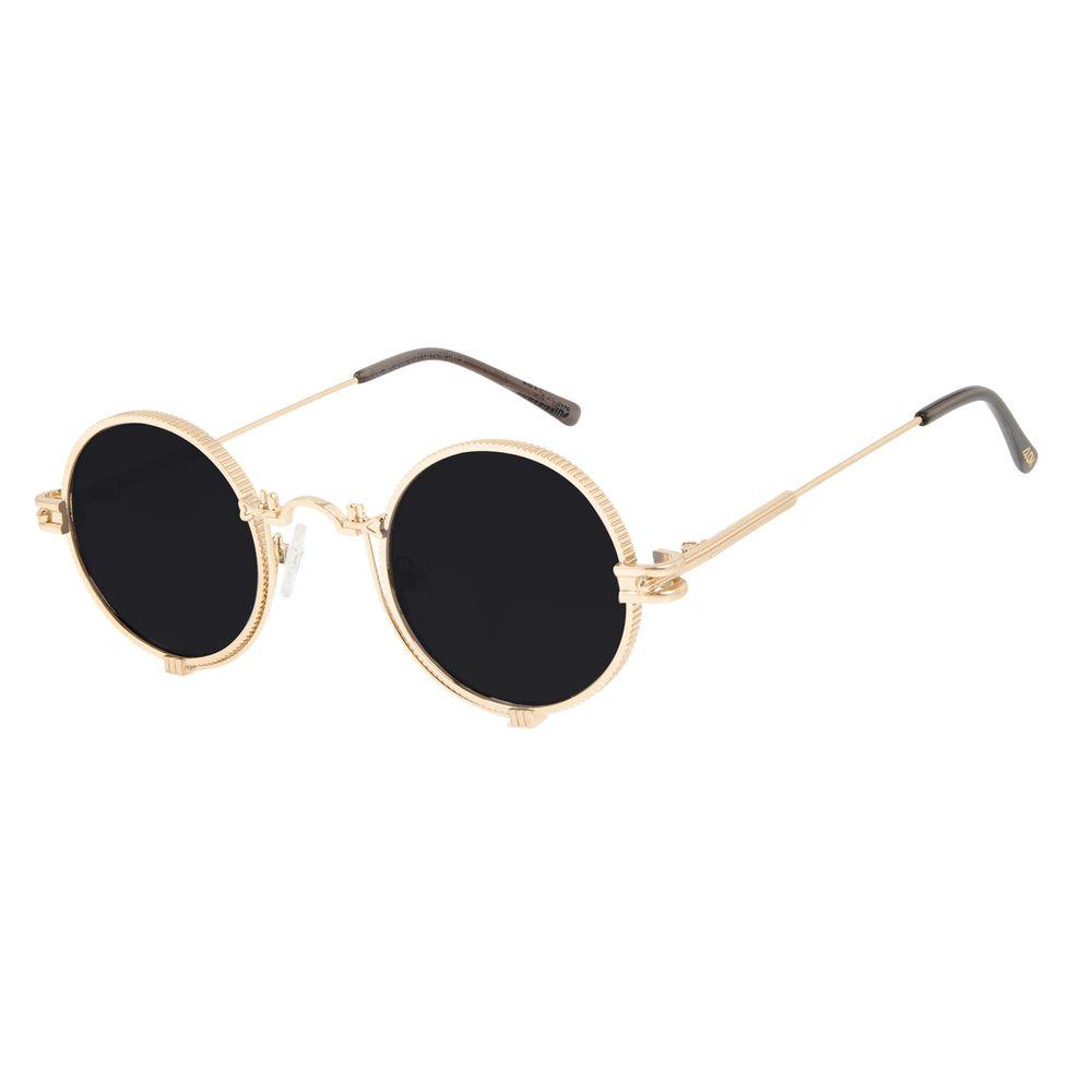 Óculos de Sol Unissex Alok Tech In Style Cyberpunk Dourado OC.MT.3110-0121