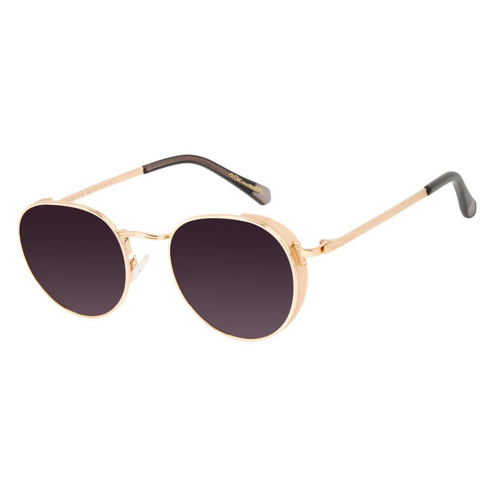 Óculos de Sol Unissex Alok Tech In Style Flap Dourado Banhado a Ouro OC.MT.3113-2021