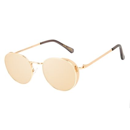 Óculos de Sol Unissex Alok Tech In Style Flap Espelhado Banhado a Ouro OC.MT.3113-3221