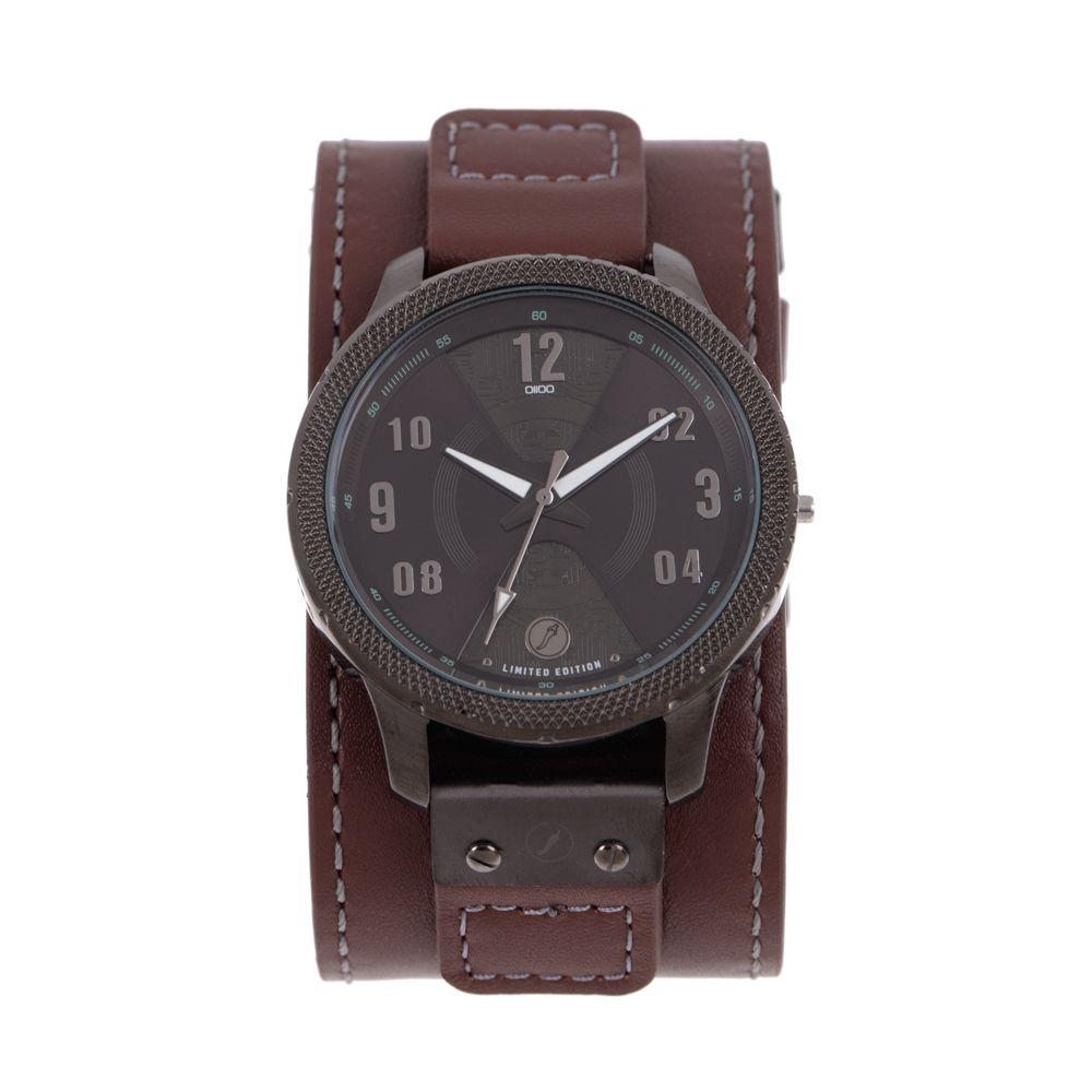 Relógio Analógico Masculino Infinity Bracelete Couro Verde RE.BT.0188-1502