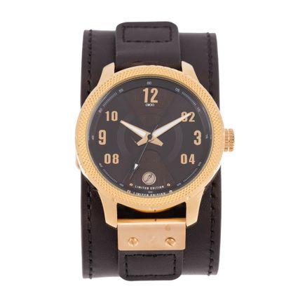 Relógio Analógico Masculino Infinity Bracelete Couro Marrom RE.BT.0188-0202