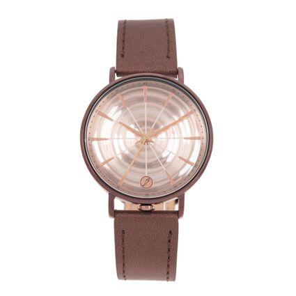 Relógio Analógico Feminino Infinity Couro Shine Marrom RE.CR.0468-9595