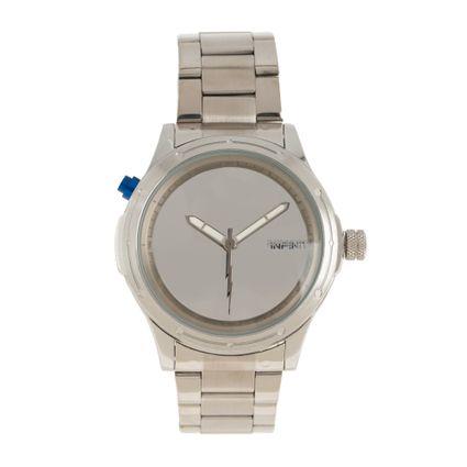 Relógio Analógico Masculino Infinity Minimalist Metal Prata RE.MT.1183-0807