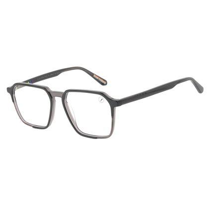 Armação Para Óculos de Grau Masculino True Colors Quadrado Cristal Preto LV.AC.0733-0101