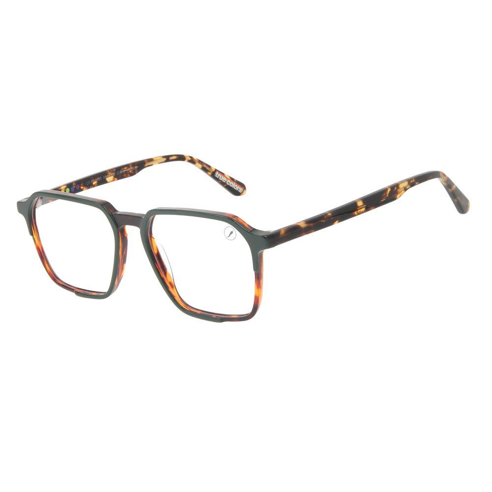Armação Para Óculos de Grau Unissex True Colors Quadrado Cristal Tartaruga LV.AC.0733-0606