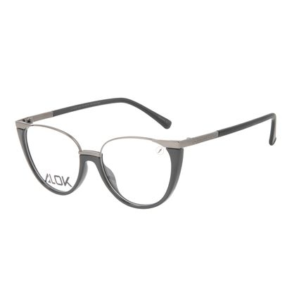 Armação Para Óculos de Grau Feminino Alok Tech In Style Cat Preto LV.IJ.0199-0101