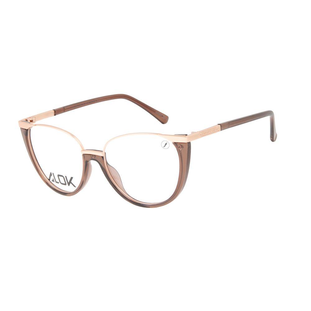 Armação Para Óculos de Grau Feminino Alok Tech In Style Cat Rosé LV.IJ.0199-9595