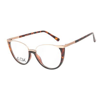 Armação Para Óculos de Grau Feminino Alok Tech In Style Cat Tartaruga LV.IJ.0199-0606