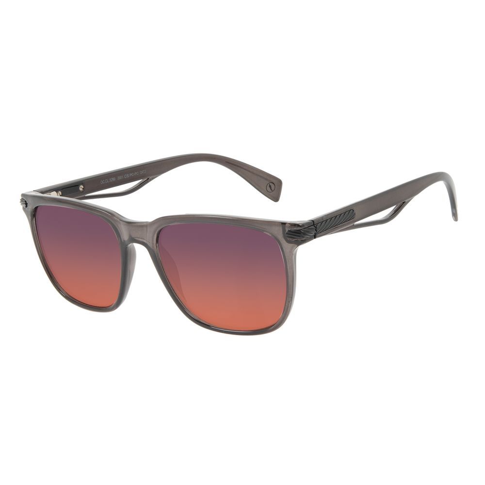 Óculos de Sol Masculino Alok Tech in Style Bossa Nova Degradê Preto OC.CL.3299-2001