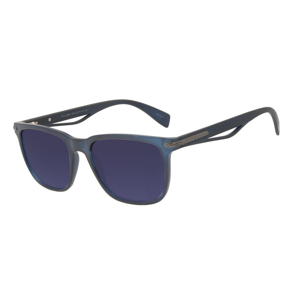 Óculos de Sol Masculino Alok Tech in Style Bossa Nova Degradê Azul OC.CL.3299-8308
