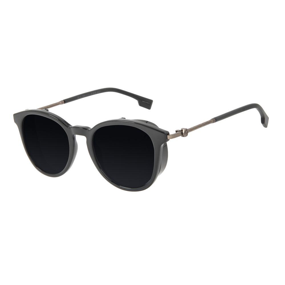 Óculos de Sol Masculino Alok Tech in Style Redondo Flap Preto OC.CL.3304-0101
