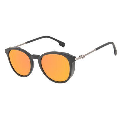 Óculos de Sol Masculino Alok Tech in Style Redondo Flap Espelhado OC.CL.3304-9201